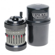Curta Calculator Type II Ser: 536639 RARE Vintage with original metal case CLEAN