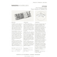 Nagra qfms pilot frequency meter kudelski iv-s instructions