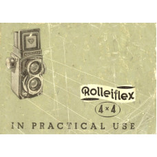 Rolleiflex 4x4 camera tlr in practical use instructions