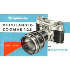 Voigtlander zoomar zoom lens operating instructions