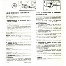 Bolex cable release for h cameras instructions for use