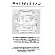 Hasselblad rodenstock apo-grandagon lenses instructions