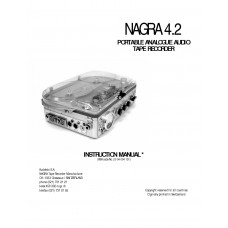 Nagra 4.2 instruction manual portable sound recorder