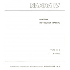 Nagra iv-s stereo instruction manual sound recorder