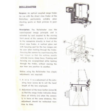 Rolleiflex rolleimeter instructions for use manual
