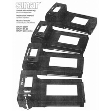 Sinar zoom 67 69 panorama rollfilm holders instructions