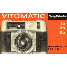 Voigtlander ib iib iiib vitomatic instructions for use