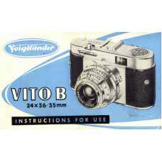 Voigtlander vito b camera instructions for use 24x36