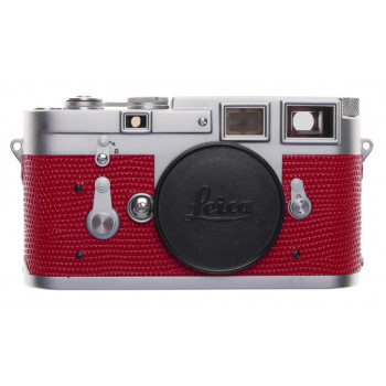 Leica M3 Just Serviced Rangefinder 35mm film camera body re skinned Red #952824
